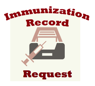 Immunization Record Image with Link to Form